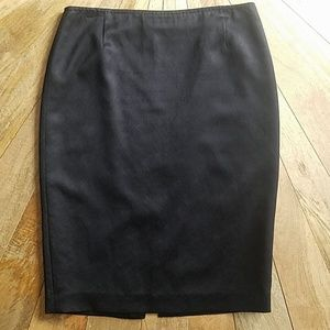 Elie Tahari black satin pencil skirt